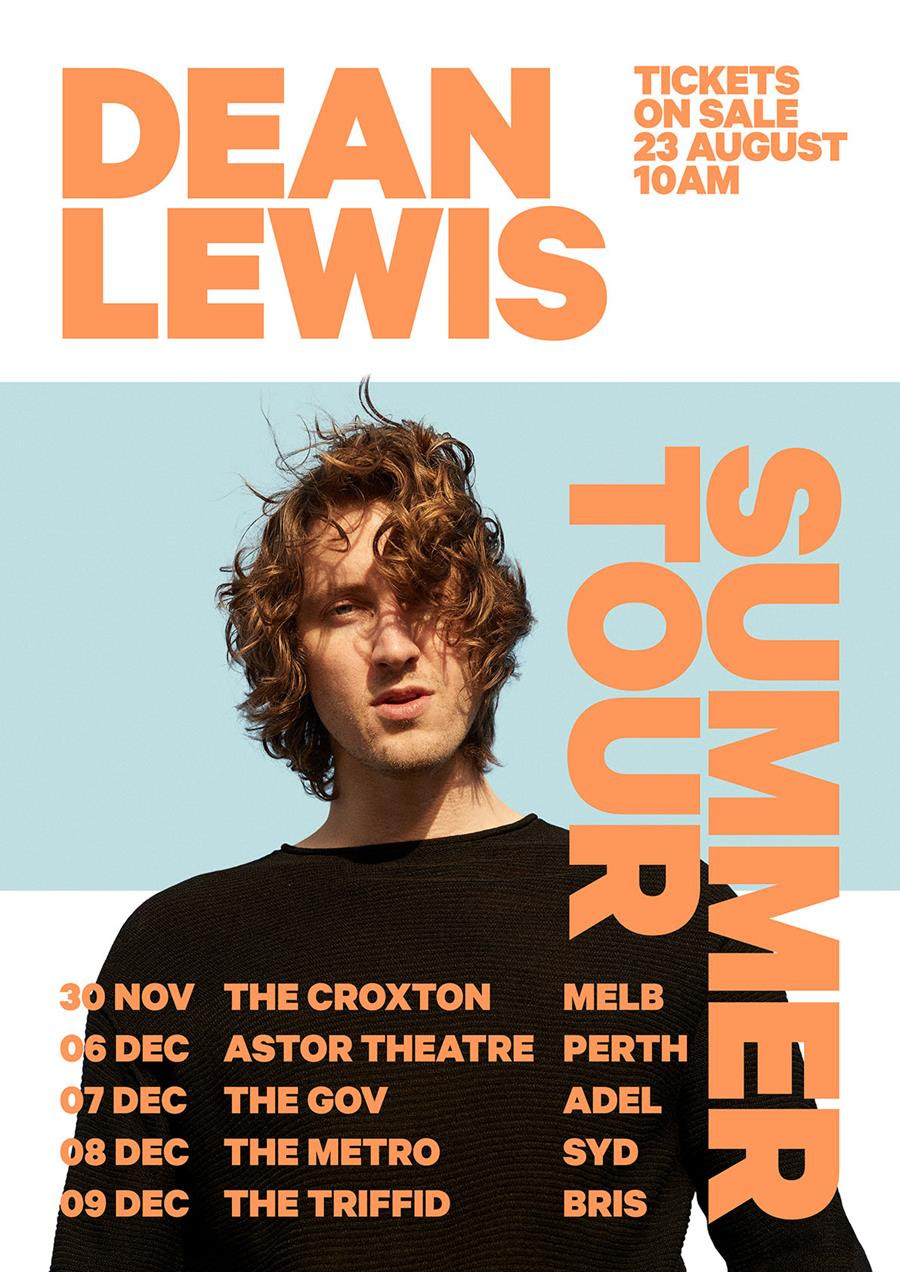 """DEAN LEWIS """"BE ALRIGHT"""" CLAIMS #1 on ARIA SINGLES CHART ..."""